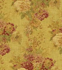 Yellow Home Decor Fabric Home Decor Fabric Waverly Romantic Overtures Ballad Bouquet Tea