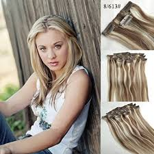 Light Brown Hair Extensions Buy 18 Inch Mix Color Light Brown Blonde 8 613 Full Head Clip In