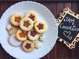 eggless jam cookies christmas special divya u0027s zaika