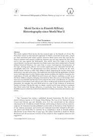 motti tactics in finnish military historiography since world war
