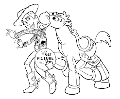 woody coloring pages bullseye coloring pages kids