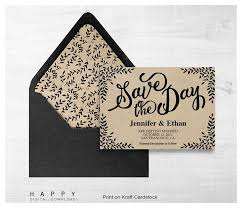 digital save the date rustic leaves save the date template happy digital