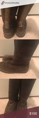 s boots ugg braided boot s n 3217 size 9 brown brown