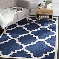 Xl Outdoor Rugs Safavieh Amherst Collection Amt423p Navy And Beige
