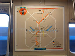 Atlanta Marta Train Map by I Took A Picture Of The Marta Rail Map Posted On A Train In 2006
