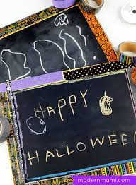super easy happy halloween chalkboard sign kids craft modernmami