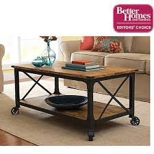 Rustic Coffee Table With Wheels Better Homes And Gardens Rustic Country Coffee Table For Flat