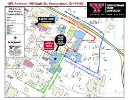 Ohio University Campus Map by Women In Science Youngstown State University