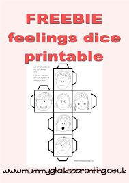 printable question dice freebie my feeling dice printable mummy g talks parenting