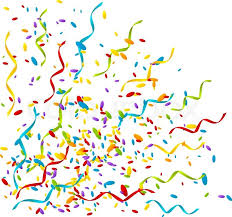 party confetti party background with color confetti stock vector colourbox