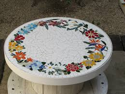 how to make a mosaic table top more colorful room with a mosaic table cakegirlkc com