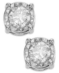diamond stud trumiracle diamond stud earrings 3 4 ct t w in 14k white gold