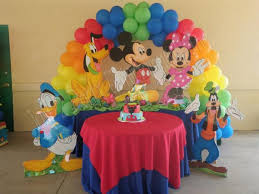 disney birthday table decorations image inspiration of cake and