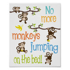 No More Monkeys Jumping On The Bed Song Bedding Trendy No More Monkeys Jumping On The Bed Large By