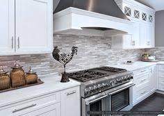 White Cabinet Marble Countertop Modern Subway Kitchen Backsplash - Backsplash white