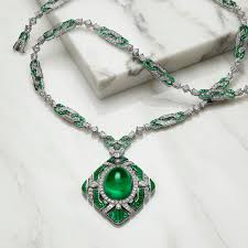 emerald gemstone necklace images Festa the green liz cabochon emerald necklace bulgari the jpg