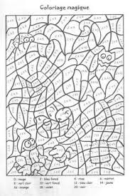 coloriages magiques grammaire pinterest pixel coloriage