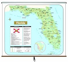 broward central cus map florida large scale shaded relief wall map on roller maps com