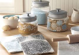 martha stewart kitchen canisters floral doily kitchen canisters and dish towels project plaid