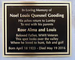 outdoor memorial plaques rock and concrete signs headstones monuments alberta signs photo