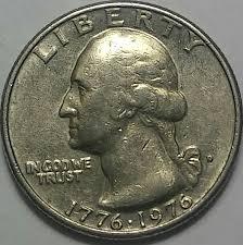 1776 to 1976 quarter dollar u s 1776 1976 d cud on error on f grade value