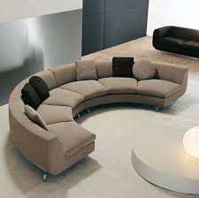 Circular Sectional Sofa Small Round Sectional Sofa Half Round Curved Modern Brown Color