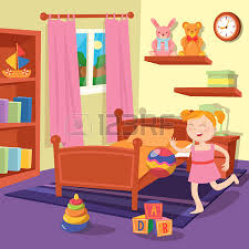 Toddler Bedroom Toys Children Bedroom Interior With Furniture And Toys Vector