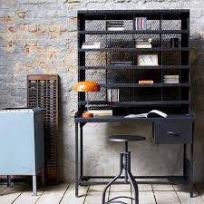 bureau metallique drawer cabinet vintage finish metal industrial furniture indus