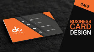 back business card business card design in photoshop cs6 back orange gray
