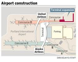 Alaska Air Route Map by Pdx To Expand Terminal Shuffle Airlines Oregonlive Com