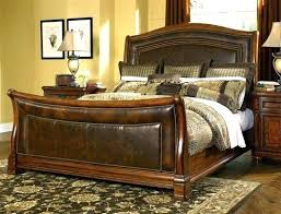 sleigh beds leather elegant leather headboard sleigh bed with