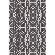 White And Gray Rugs Shop Oriental Weavers Of America Leland Dark Gray Rectangular