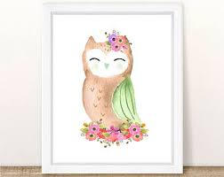 printable owl art owl wall art girl owl decor music guitar theme rock n roll