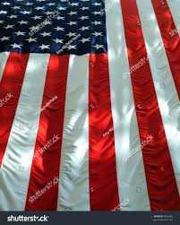 Hanging A Flag Vertically Vertically Hung American Flag Light Shadows Stock Photo 5666389