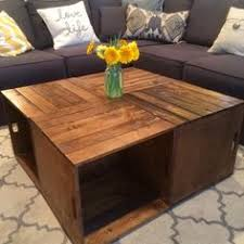 wine crate coffee table our diy wood crate coffee table how we did it we used 4 wood