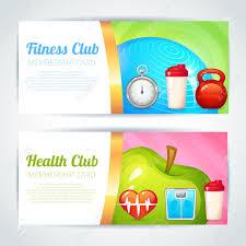 Membership Cards Design Fitness Health Club Membership Card Design Horizontal Banners