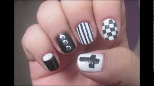 hipster nail art black and white manicure youtube