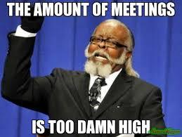 Meeting Meme - the amount of meetings is too damn high meme too damn high 3548