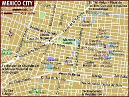 map of the mexico map of mexico city