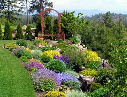 wonderful green purple yellow cute design landscaping garden ideas