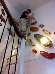 creative of ideas to decorate staircase wall decorating staircase