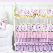 Purple Nursery Bedding Sets Caden Baby Bedding Purple Petunia Ruffle Baby Bedding