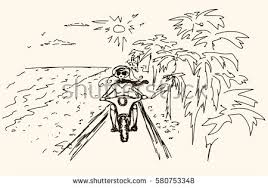bicicleta beach sunset free vector download free vector art