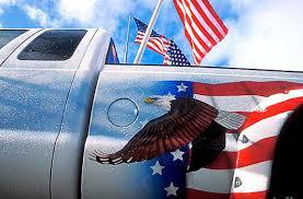 American Flag On Truck Brett Cole Photography Patriotic Monster Truck Set Against Three