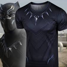 Marvel Super Heroes Clothing Black Panther Compression Shirt Black Panther Marvel And Black