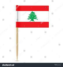 Pine Tree Flag Flag Lebanon Flag Toothpick On White Stock Vector 583496218