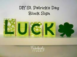 diy st patrick u0027s day block sign decoration
