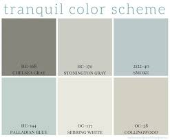 color palette for home interiors tranquil color scheme calming colors benjamin and bedrooms