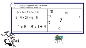 free order of operations worksheets edhelper com