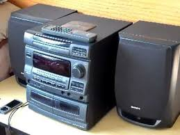 Bookshelf Cd Stereo System Aiwa Nsx V10 Compact Stereo System Review Look Youtube